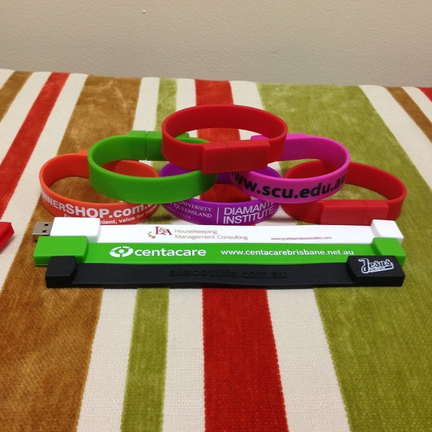 Wristband USB drives